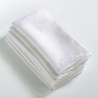 Fennco Styles Burnout Snowflake Design Napkin - Set of 4
