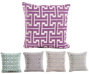 """Fennco Styles Two Tone Geometric Design Decorative Throw Pillow - 18""""x 18"""""""