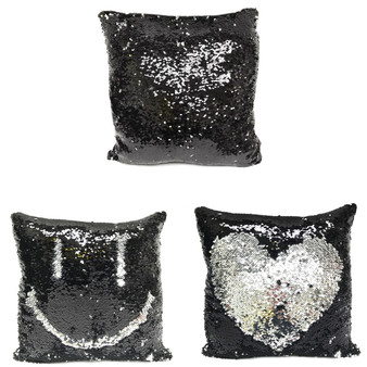 "Fennco Styles Glam Mermaid Sequin Throw Pillow - 16""x16"""