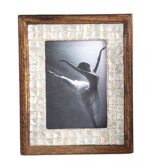 Fennco Styles Mother of Pearl Wood Photo Frame