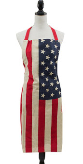Fennco Styles American Flag Design Cooking Apron Creative Kitchen Apron