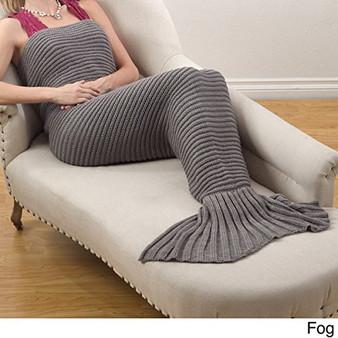 Fennco Styles Chunky Knit Mermaid Tail Design Throw Blanket