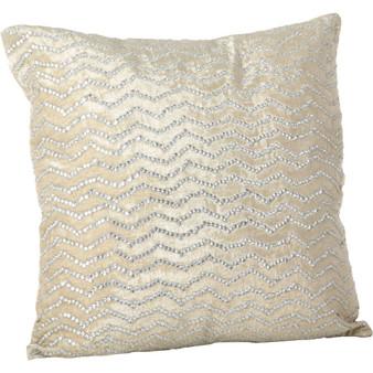"""Fennco Styles Sequined Design Velvet Sparking Throw Pillow 20"""" Square"""