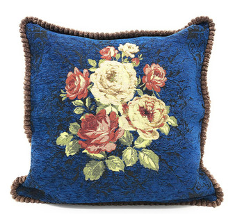 Fennco Styles Elegant Vintage Floral Woven Decorative Throw Pillow