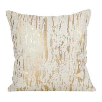 Fennco Styles Distressed Metallic Foil Design Cotton Collection