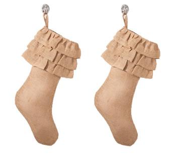 Ruffled Design Christmas Stocking
