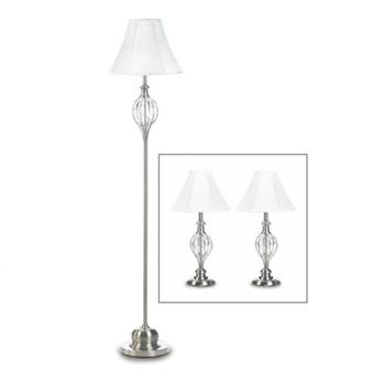 Fennco Styles Scrollwork Design Lamp Trio