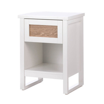 Fennco Styles Statement White Lacquer Side Table Perfect White End Table