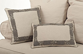 Posh Beaded Decorative Throw Pillow