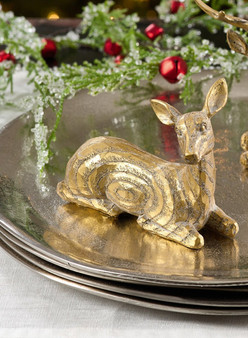 Fennco Styles Charming Reindeer Christmas Accent Holiday Figurines Statues