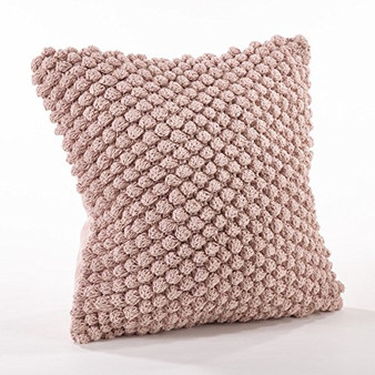 Fennco Styles Handmade Crochet Pompom Throw Pillow - 3 Colors