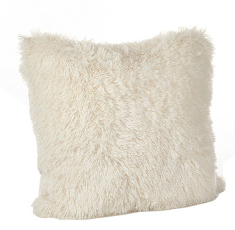 "Fennco Styles Juneau Collection Classic Faux Fur Down Filled Throw Pillow - 18"" Square - 2 Colors"