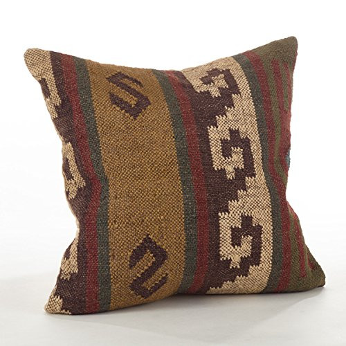 "Fennco Styles Kilim Collection Design Down Filled Throw Pillow - 20""x20"""