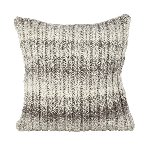 """Fennco Styles Hand Cable Knit Design Accent Cushion Wool Down Filled Home Decorative Throw Pillow 18"""" Square"""
