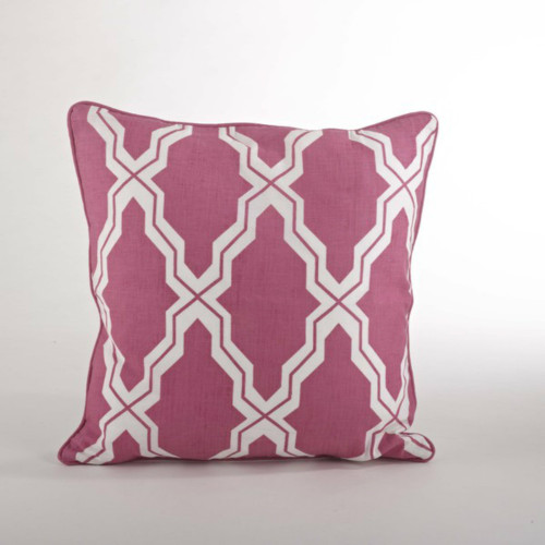 Yasmina Moroccan Decorative Down Filled Linen Blend Throw Pillow, 18-inch Square