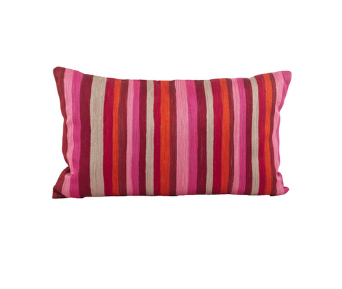 Striped Print Down Filled Decorative Throw Pillow