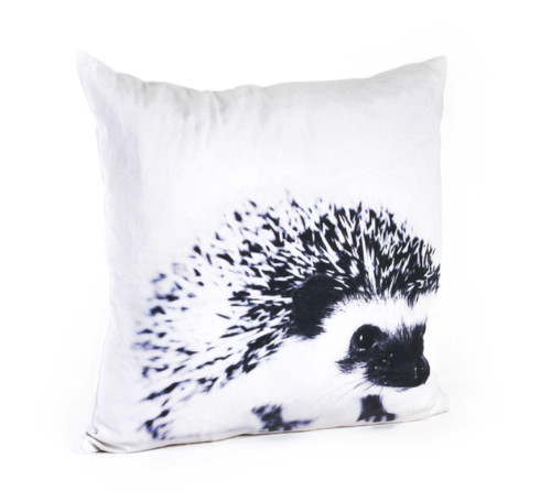 "20"" Artsy Black & White Animal Feather Filled Cotton Decorative Throw Pillow"