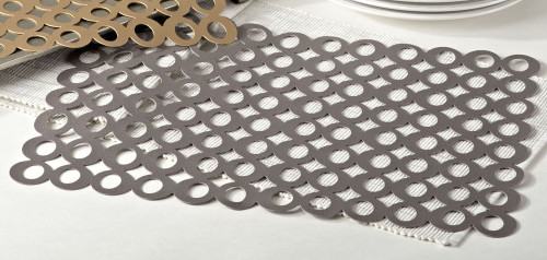 Circle Cutout Design Clara Table Placemats, Set of 4