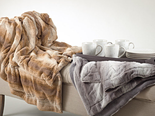 Animal Design Faux Fur Throw Blanket