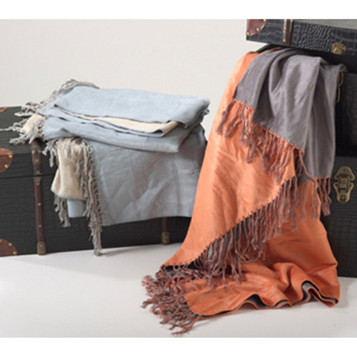 Reversible Design Classic Bamboo Throw Blanket