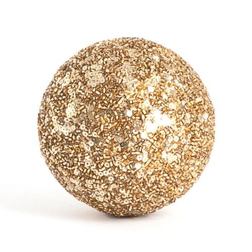 Seed Bead Design Decorative Balls,set of 4