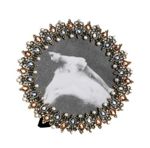 Antique Design Bejeweled Photo Frame
