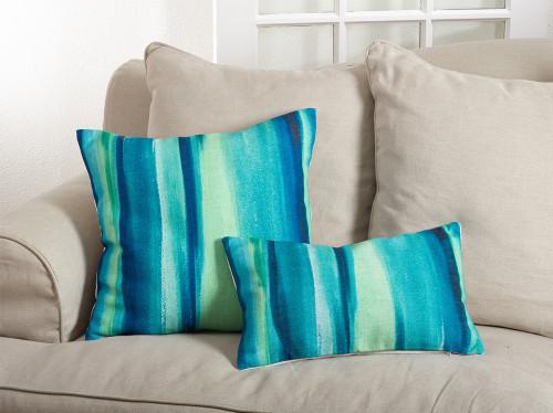Fennco Styles Blue Lagoon Ombré Throw Pillow, 2 Sizes