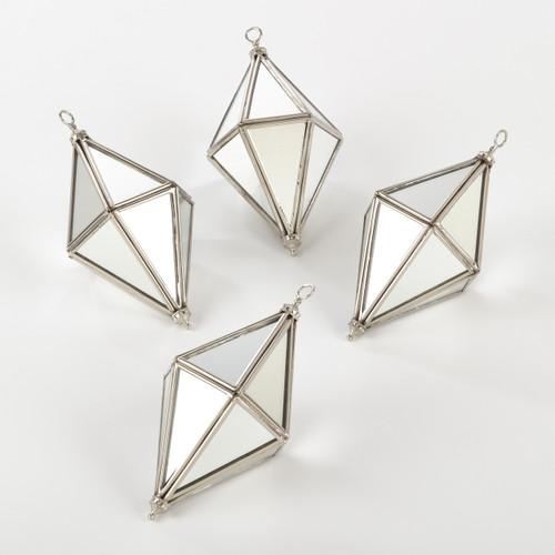 Xmas Metal Drop Ornament - set of 2 - set of 1