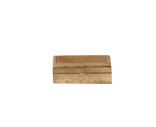 "Fennco Styles Beaded Design Jewelry Box - 2 Colors - 7.5""x2.5 x2.5"""