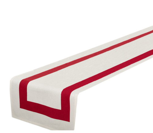 Bisciola Collection Banded Design Cotton Table Runner