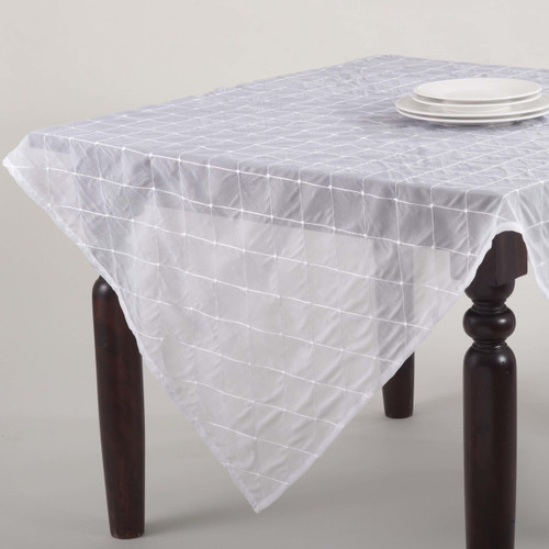La Belle Epoque Stitched Sheer Tablecloth, 5 Colors