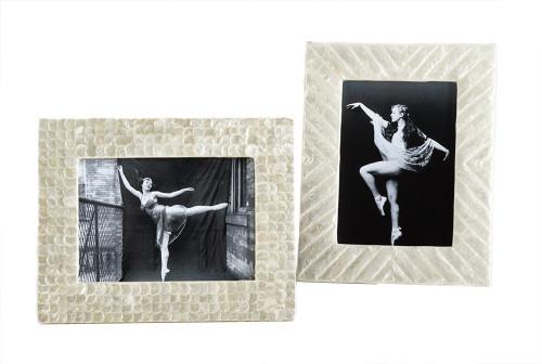 "Fennco Styles Capiz Design Photo Frame - Photo Size 5""x7"""