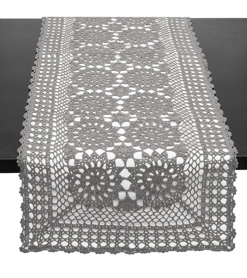 Handmade Crochet Lace Cotton Rectangular Table Runner Www
