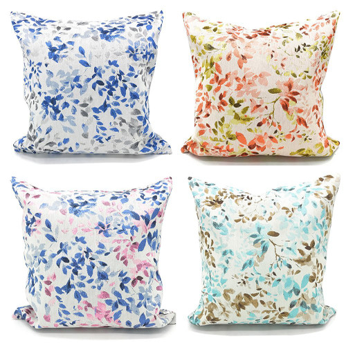 Fennco Styles Home Decoration Lovely Floral Woven Cotton Throw Pillow