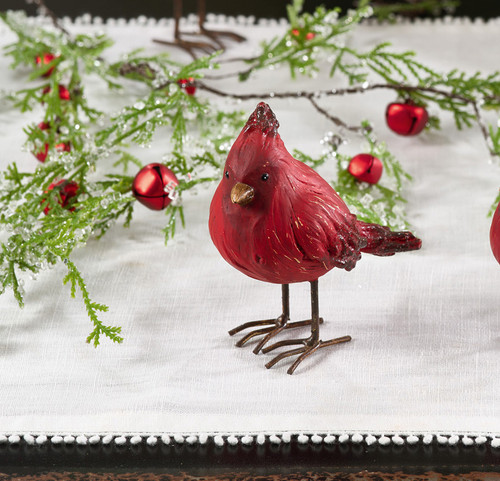 Fennco Styles Christmas Holiday Decoration Mini Cardinal Status Figurines