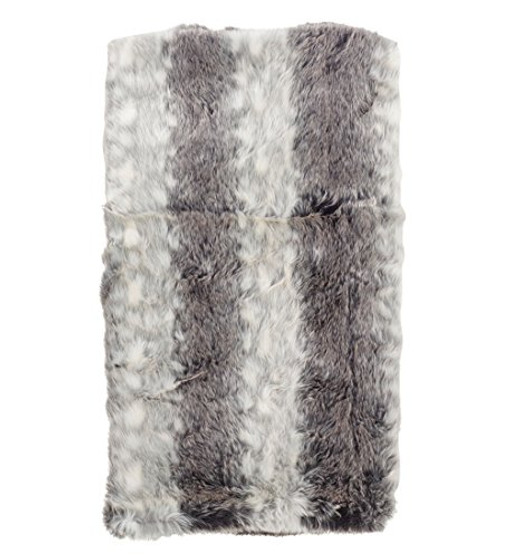 "Fennco Styles Elegant Faux Fur Soft Ombre Poly Filled Throw Blanket-50""x60"""