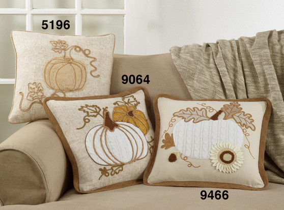 Appliqué Knit Pumpkin Pillow