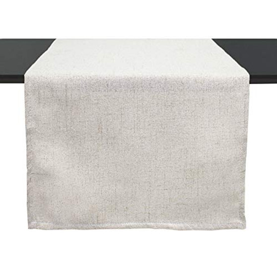 Fennco Styles Classic Solid Table Runner 16 x 54 Inch - Natural Table Cover for Everyday Use, Family Gathering, Outdoor Parties, Special Events and Home Décor