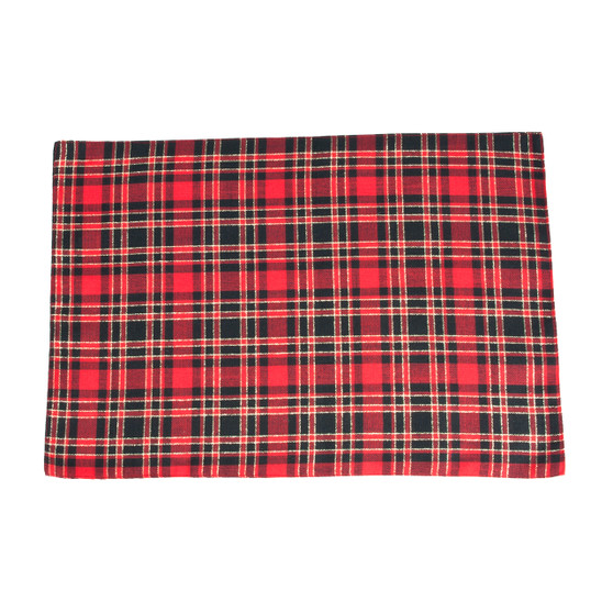 Highland Holiday Plaid Design Placemats, Set of 4