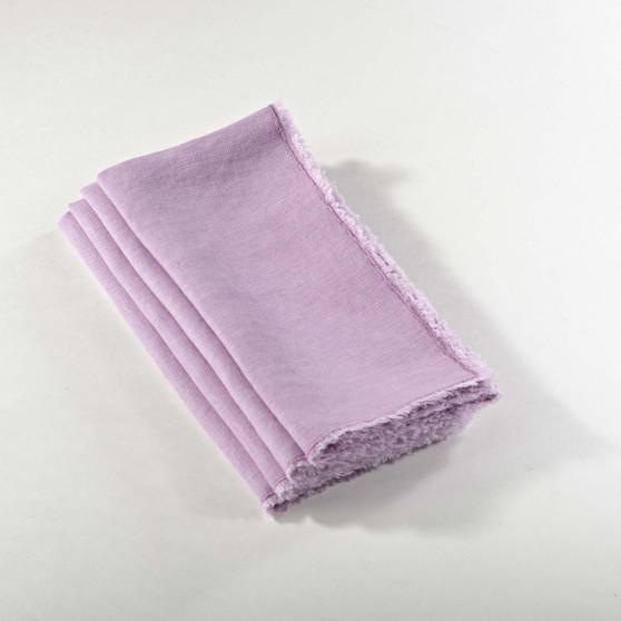 Graciella Fringed Stone Washed Napkins, Set of 4, Lavender