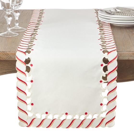 Fennco Styles Candy Cane Border Trim Design Christmas Collection
