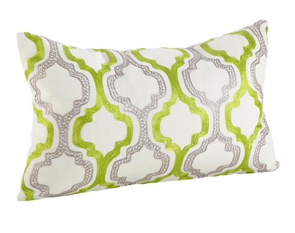 Fennco Styles Alana Embroidered Moroccan Tile Design Throw Pillow
