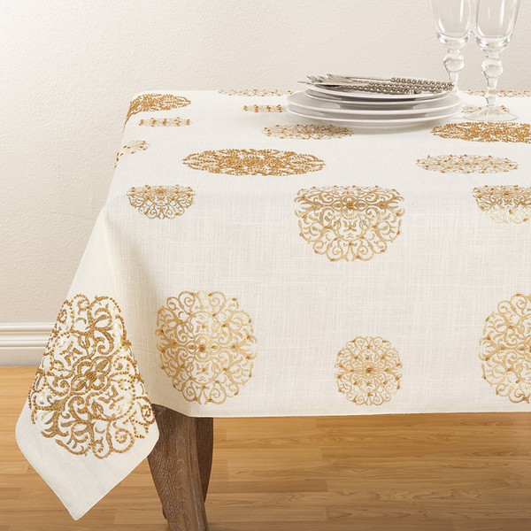 Fennco Styles Hand Beaded Holiday Flourishes Collection