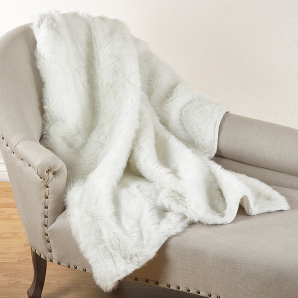 "Fennco Styles Juneau Faux Fur Throw Blanket - 50""W x 60""L"