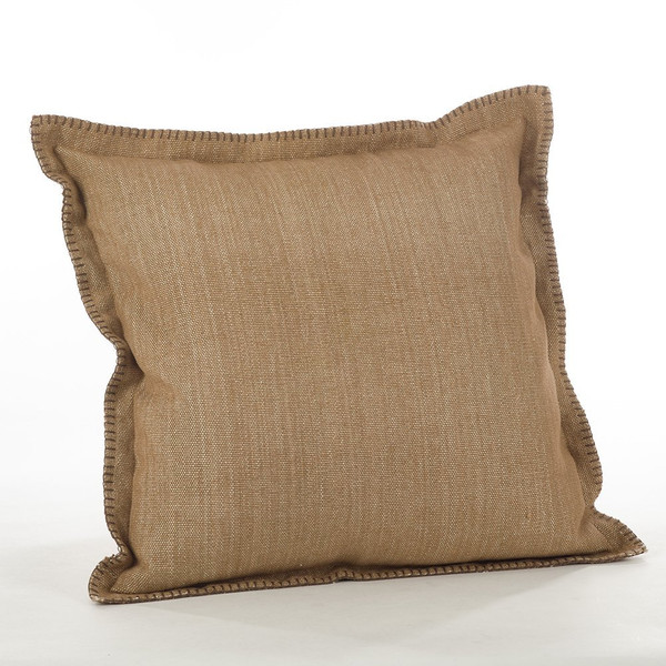 """Fennco Styles Celena Collection Whip Stitched Flange Design Down Filled Throw Pillow - 20"""" Square"""