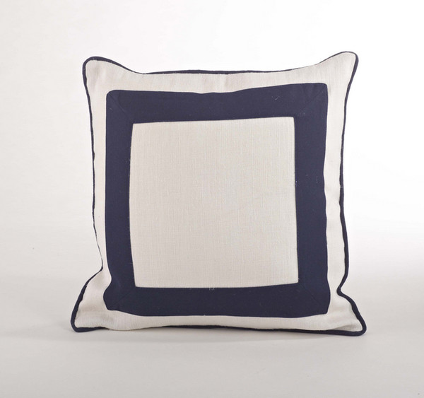 "Crete Banded Decorative Throw Pillow, 18""x18"""