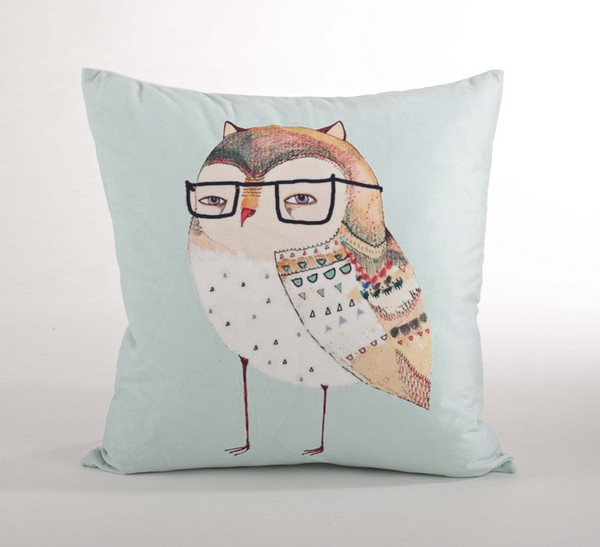 Adorable Owl Down Filled Throw Pillow