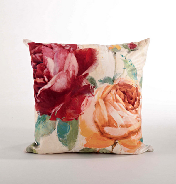 Eleganat Floral Down Filled Decorative Throw Pillow