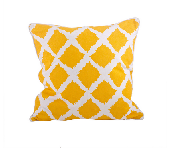 Ikat Design Down Filled Decorative Throw Pillow