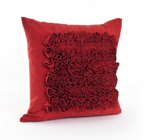 Roussan Ruffled 17-inch Feather Filled Throw Pillow